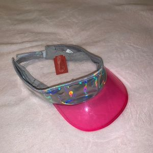 new holographic and pink visor / still has tag